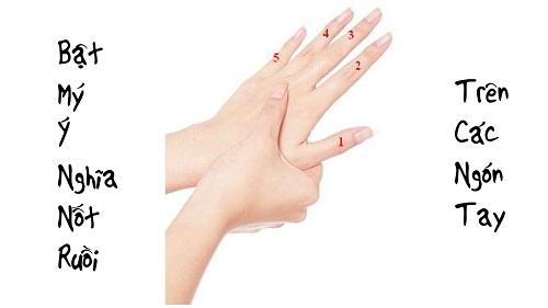 nốt ruồi ở ngón tay